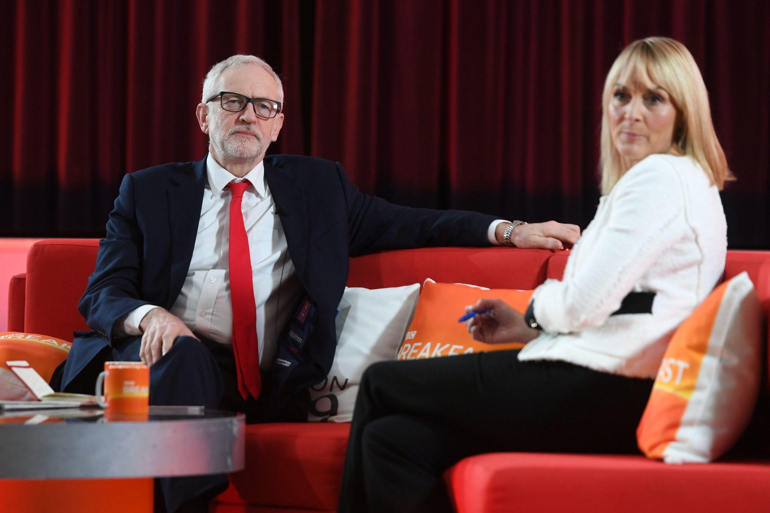 Louise Minchin et Jeremy Corbyn