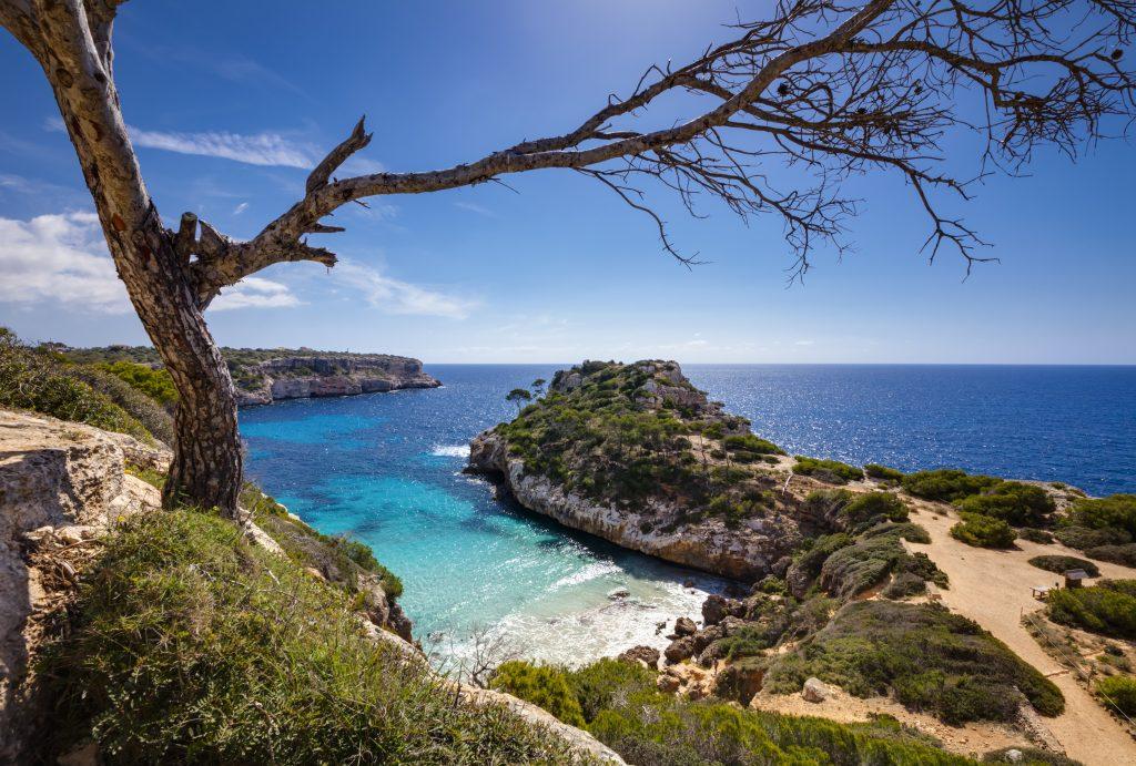 La crique de Calo des Moro, au sud de Majorque, dans les îles Baléares, en Espagne.