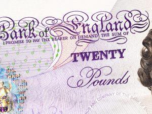 l'ancien billet de 20 £, qui n'a pas encore expiré