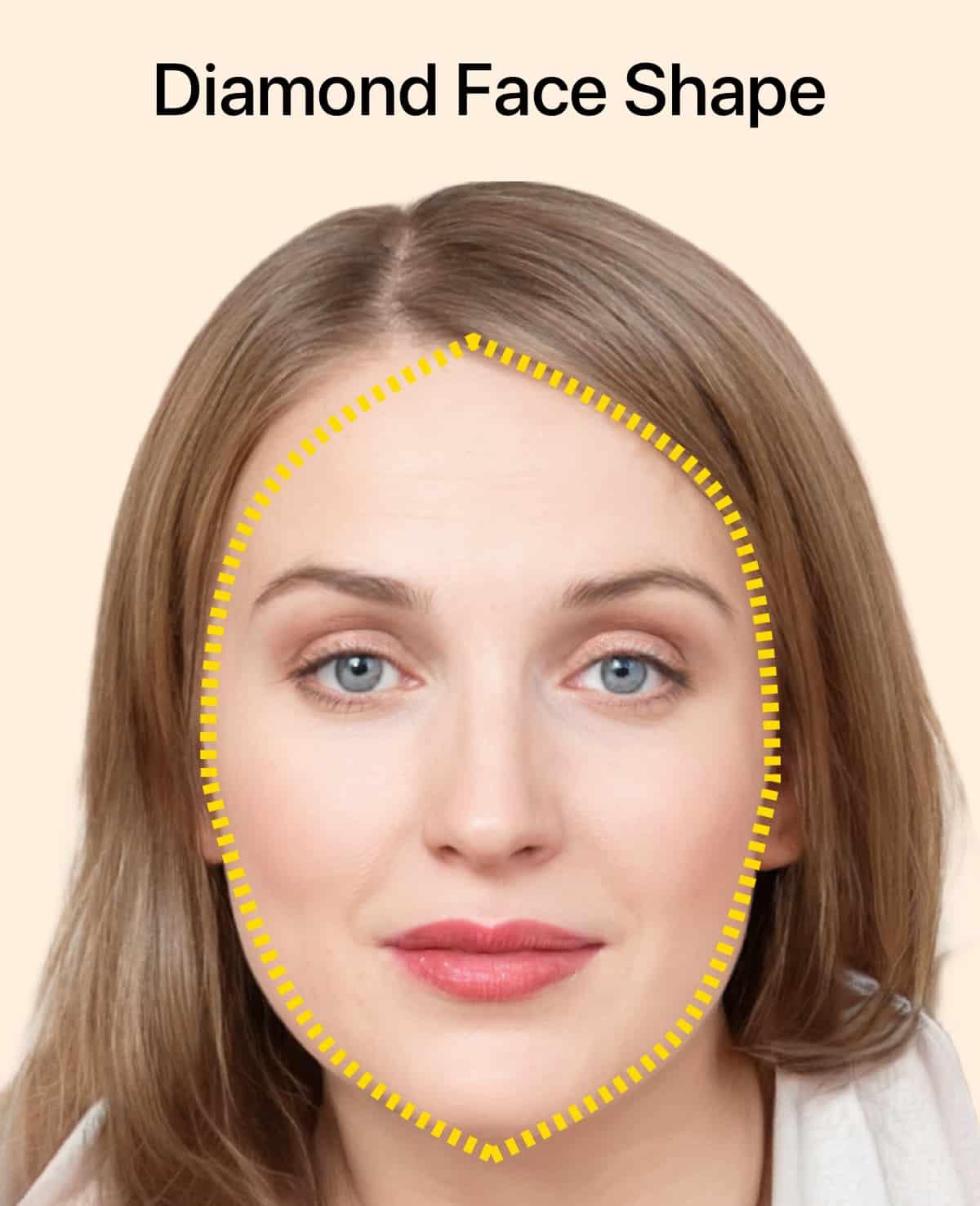 Le visage en forme de diamant pour les femmes