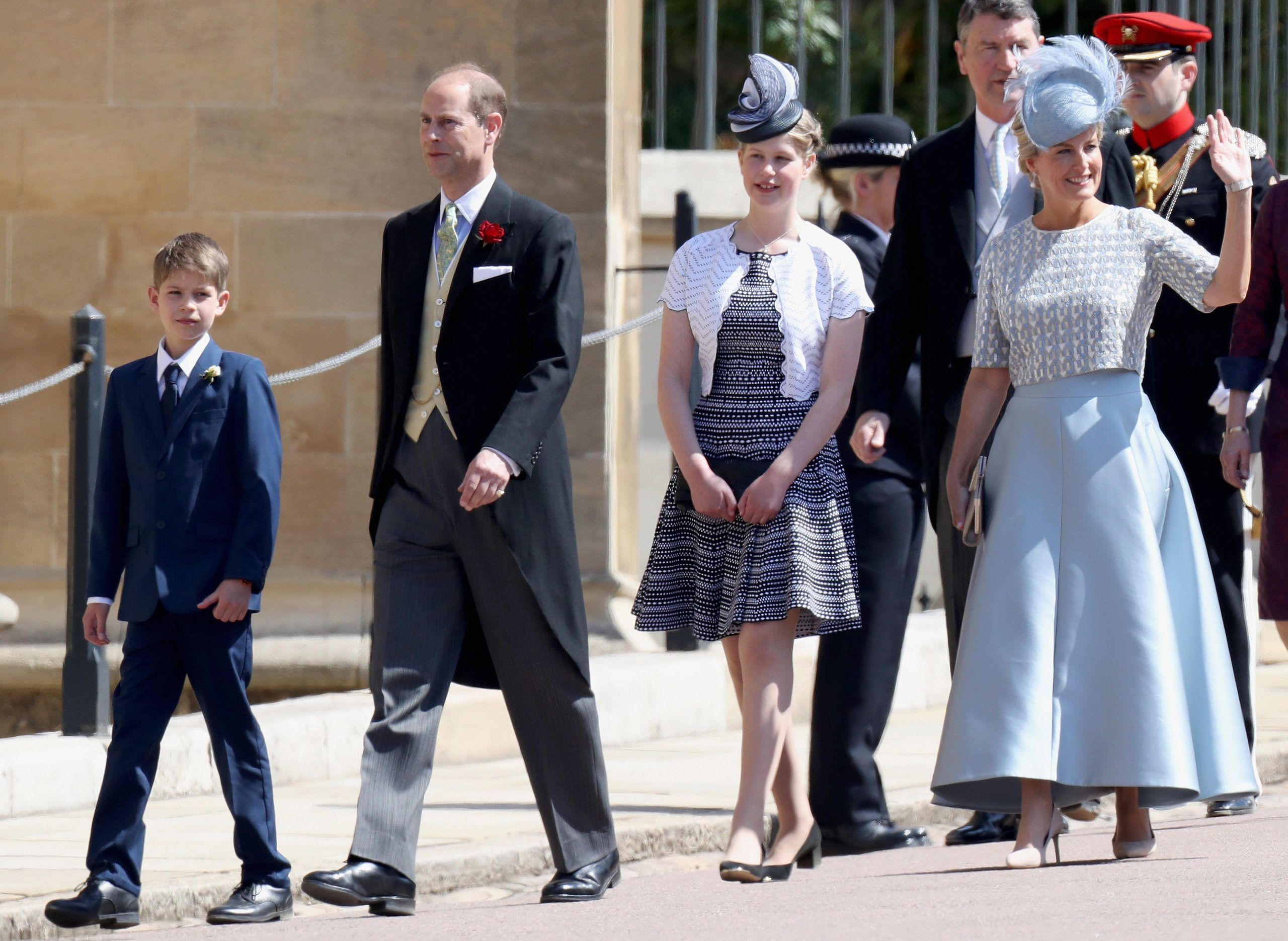 Lady Louise Windsor, Sophie Wessex, James Viscount Severn, Prince Edward.