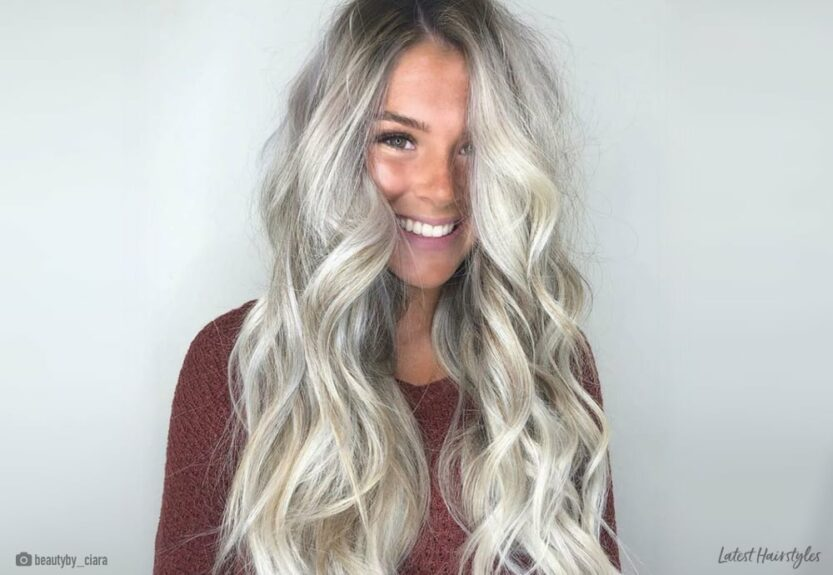 Ash blonde balayage hair colors