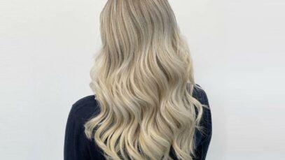 Beige blonde hair
