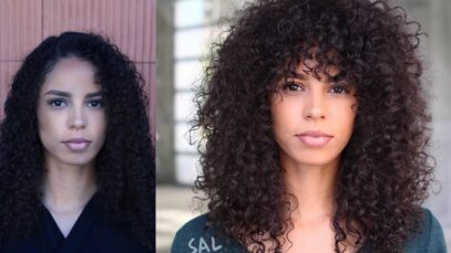 Best curly bangs hairstyles this year
