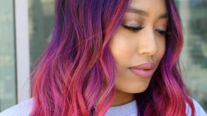 The best red purple hair color ideas