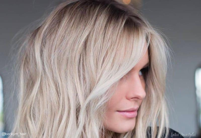Blonde hair with dark roots