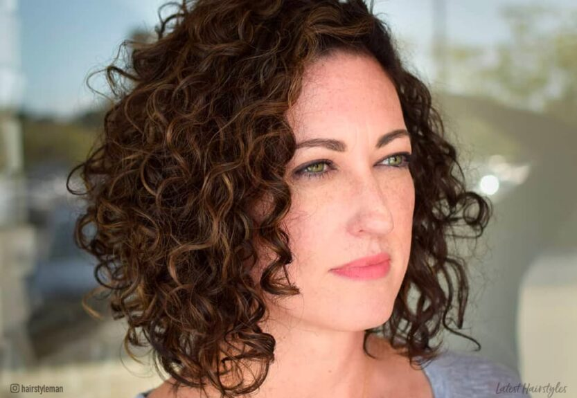 Curly bob haircuts and hairstyles for women with naturally curly hair