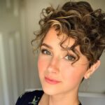 Cute curly pixie cuts for women with curly hair