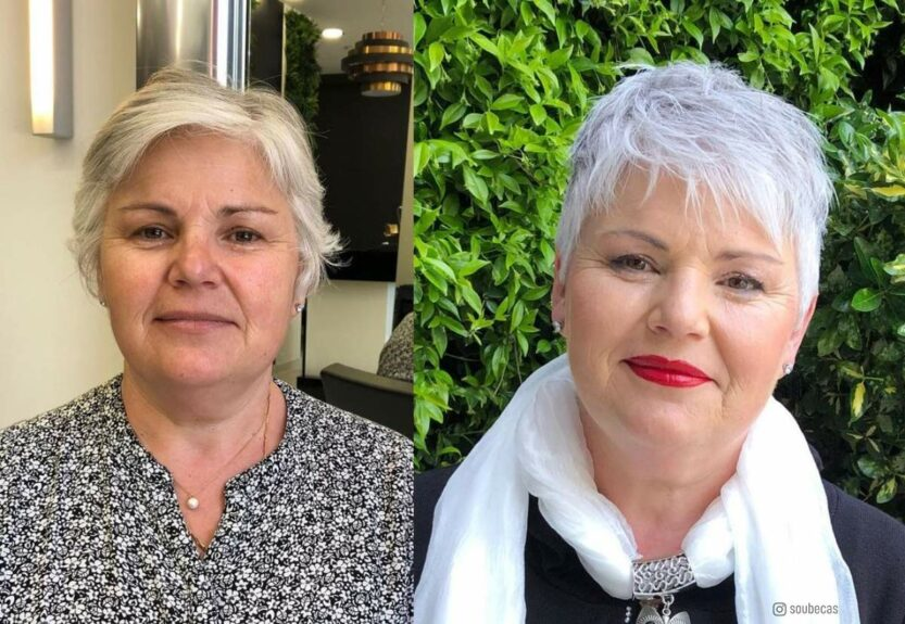 Best hairstyles for women over 50 with round face shapes