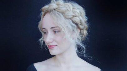 Halo braid hairstyles