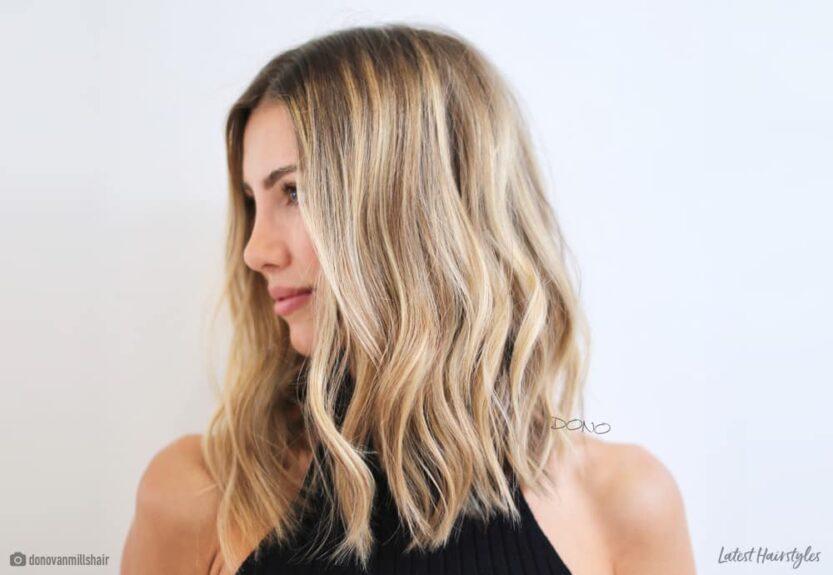 Long wavy bob haircuts and hairstyles