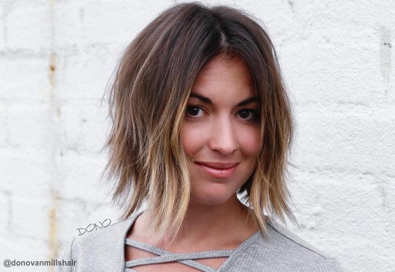 Short to medium haircuts