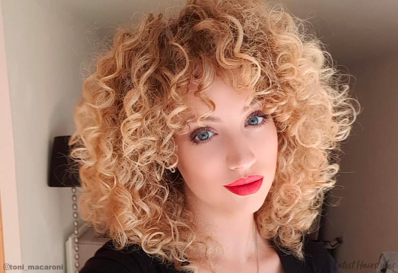 Perfect curly blonde hair