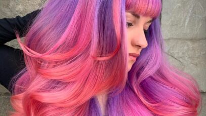 pink and purple hair colors