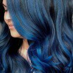 Dark blue hair colors