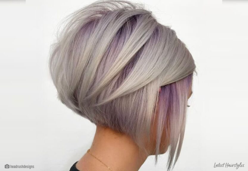 trendy stacked haircuts