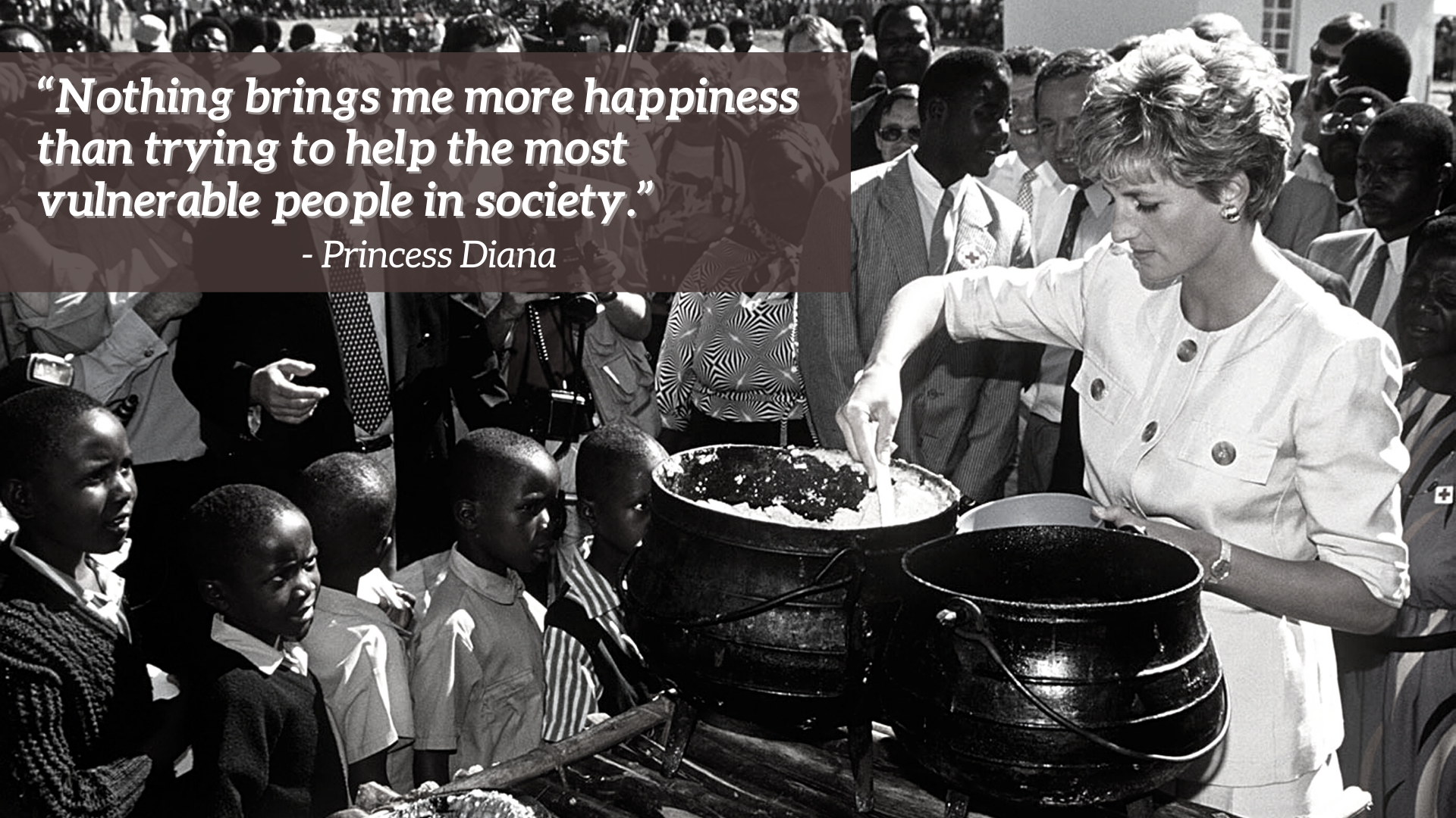 Diana cuisine pour les réfugiés au Zimbabwe
