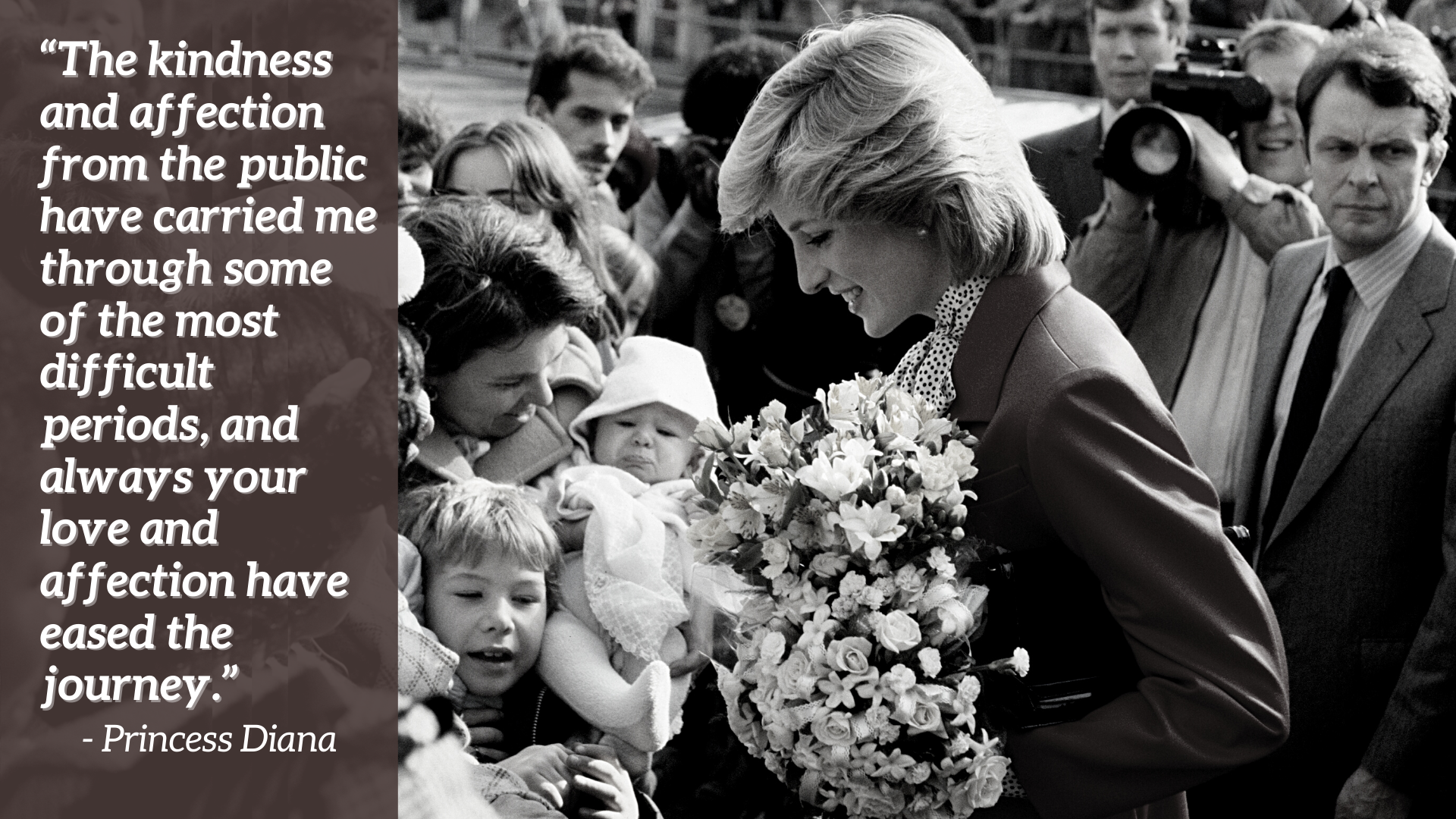 La Princesse Diana saluant la foule à Brixton - citation