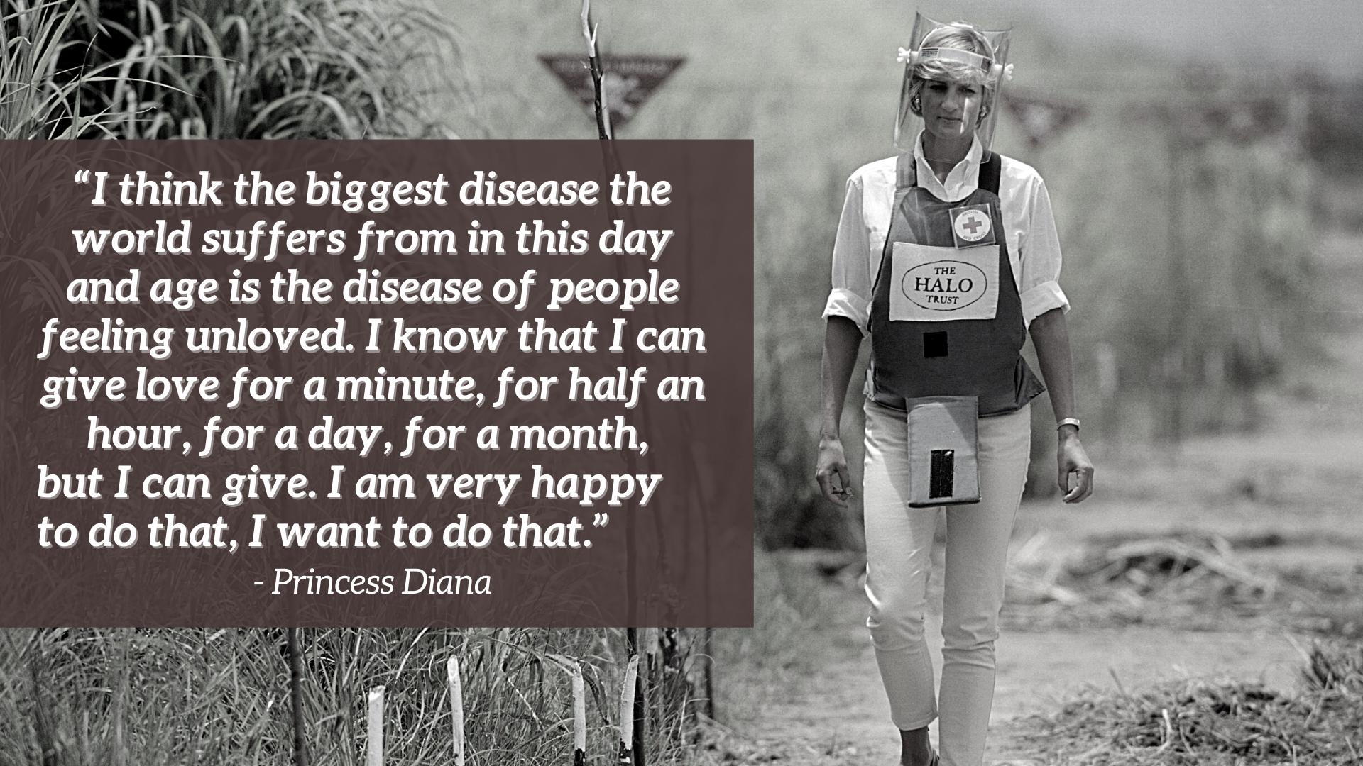 La princesse Diana dans une mine terrestre en Angola - citation