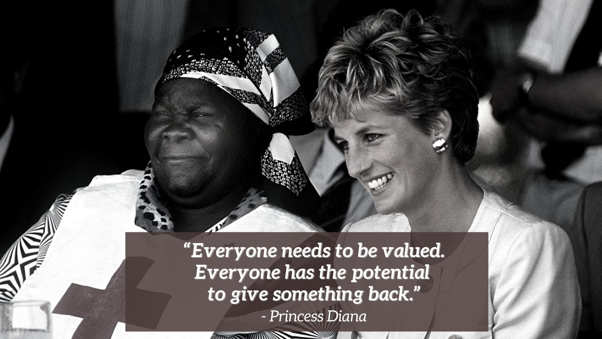 Citation de la princesse Diana au Zimbabwe