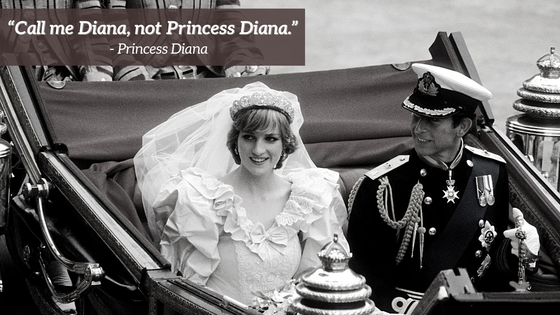 Diana le jour de son mariage