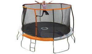 Sportspower - Trampoline d'extérieur pour enfants de 14 pieds avec enceinte