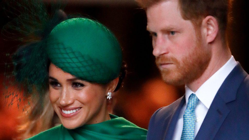Meghan, duchesse de Sussex, et le Prince Harry, duc de Sussex, assistent au Commonwealth Day Service 2020 à l'Abbaye de Westminster le 9 mars 2020 à Londres, en Angleterre.