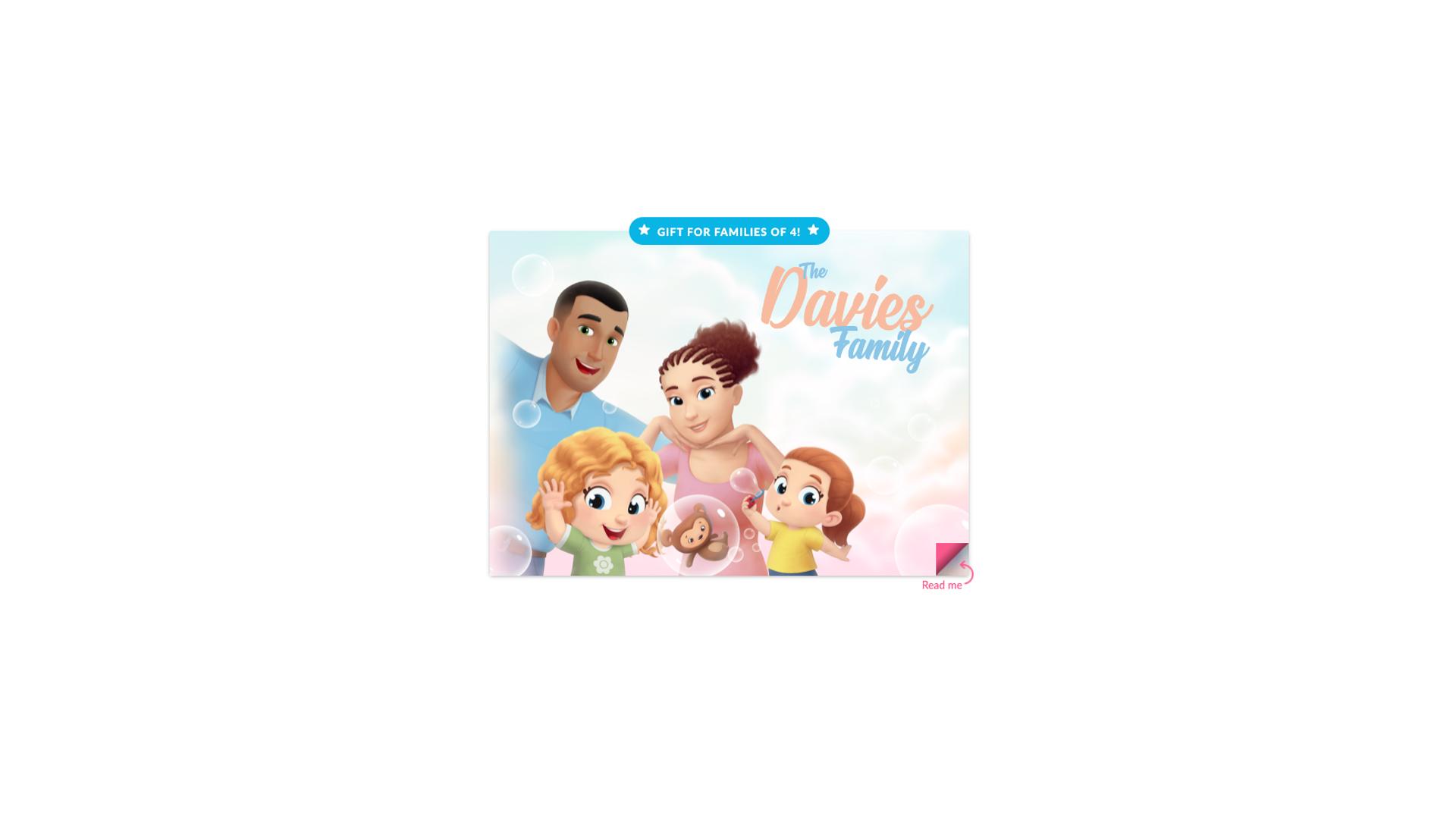 Livre personnalisé pour la famille de quatre personnes