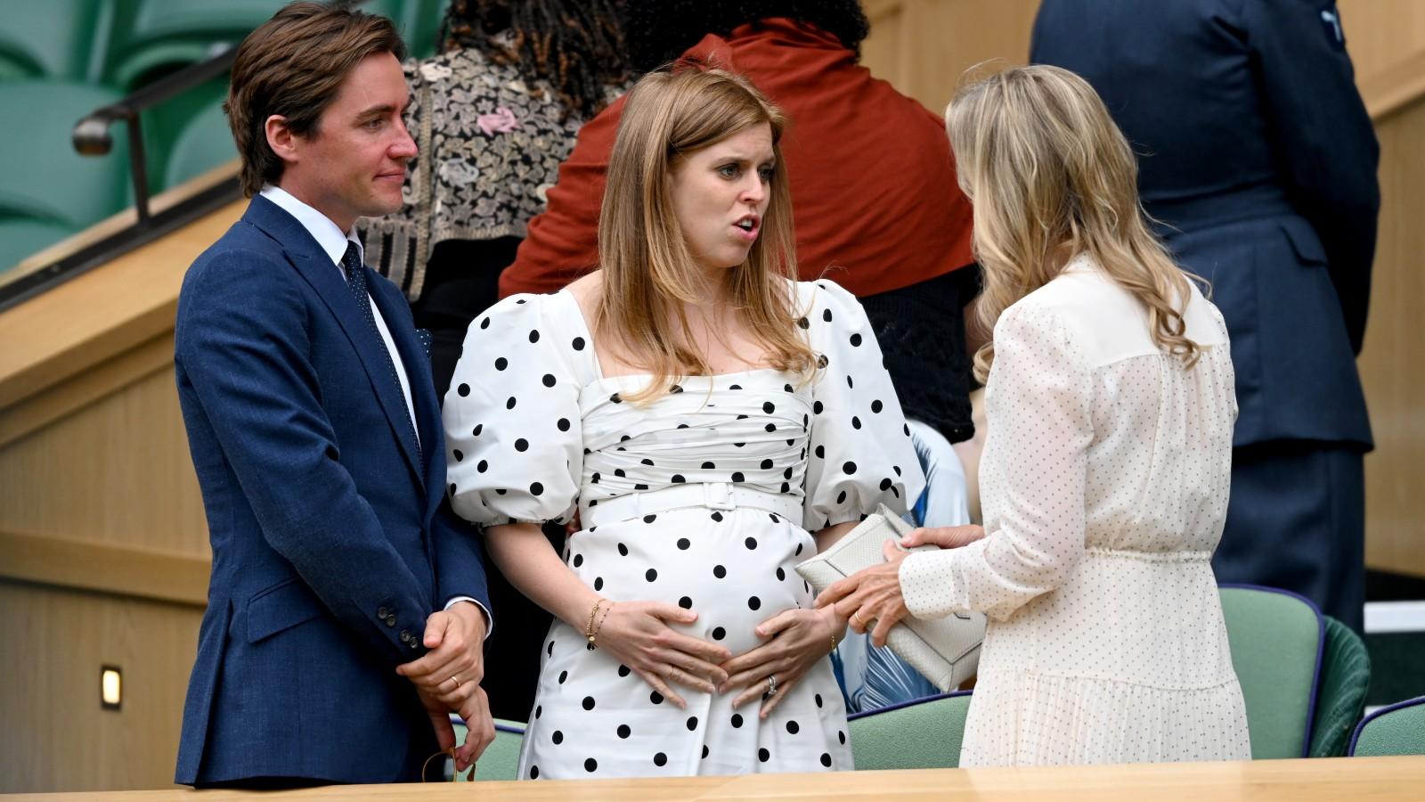 La princesse Béatrice et son mari Edoardo Mapelli Mozzi à Wimbledon.