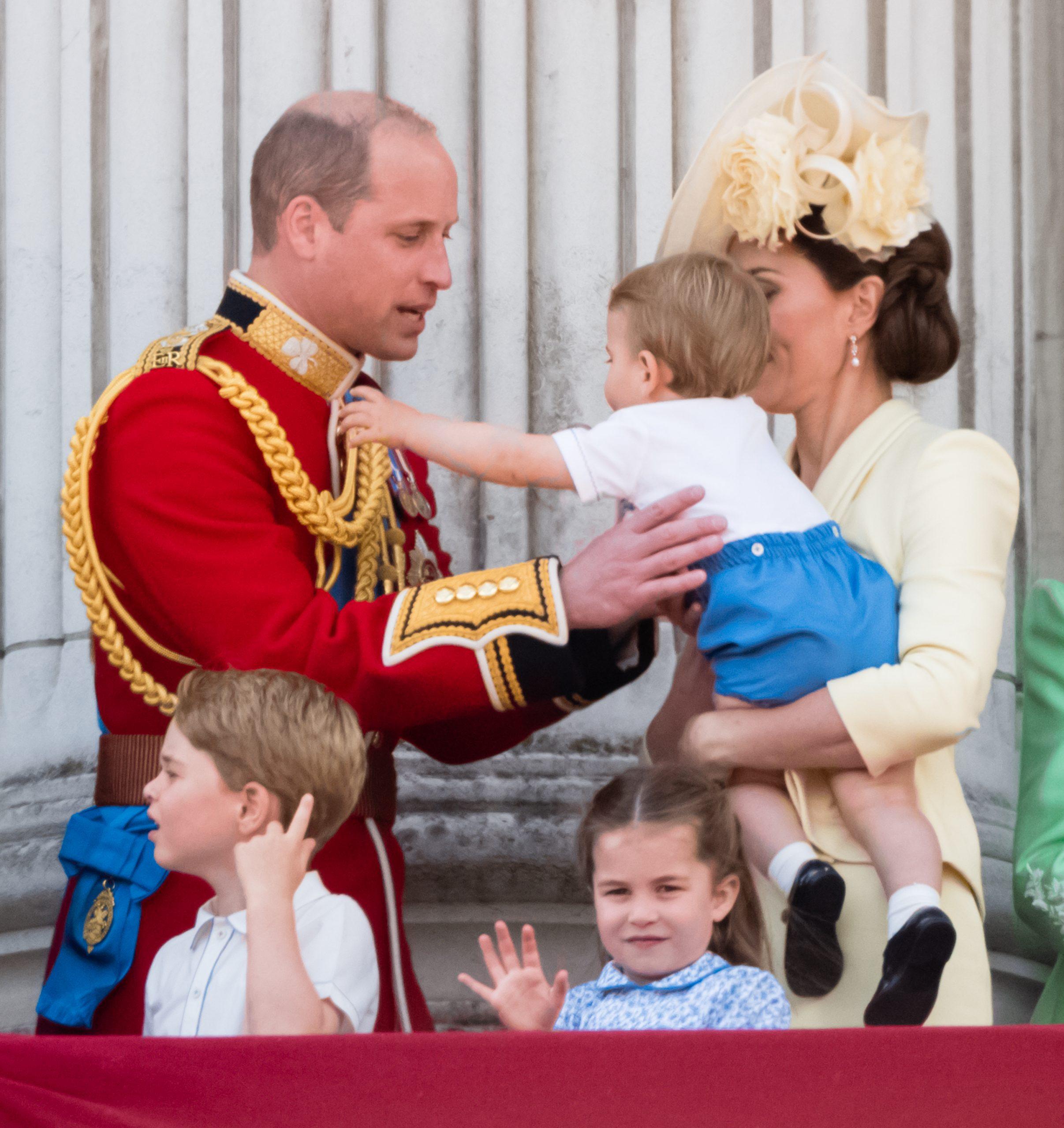 Prince William, Kate Middleton, Prince George, Charlotte et Louis
