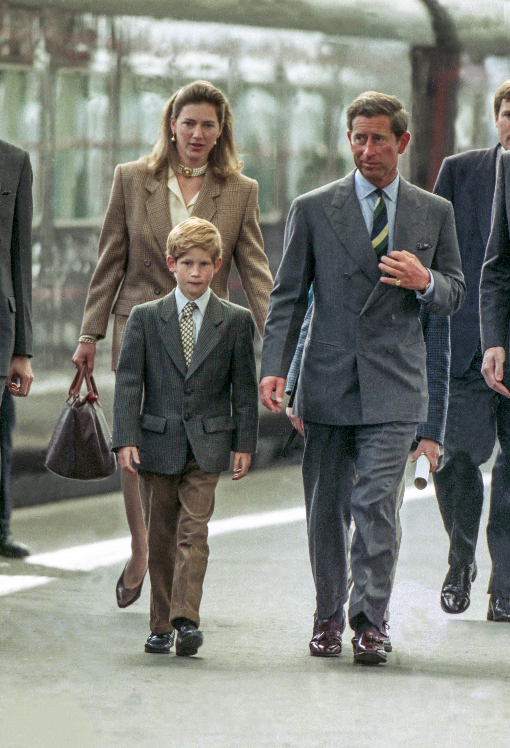 Le Prince Harry avec son père le Prince Charles