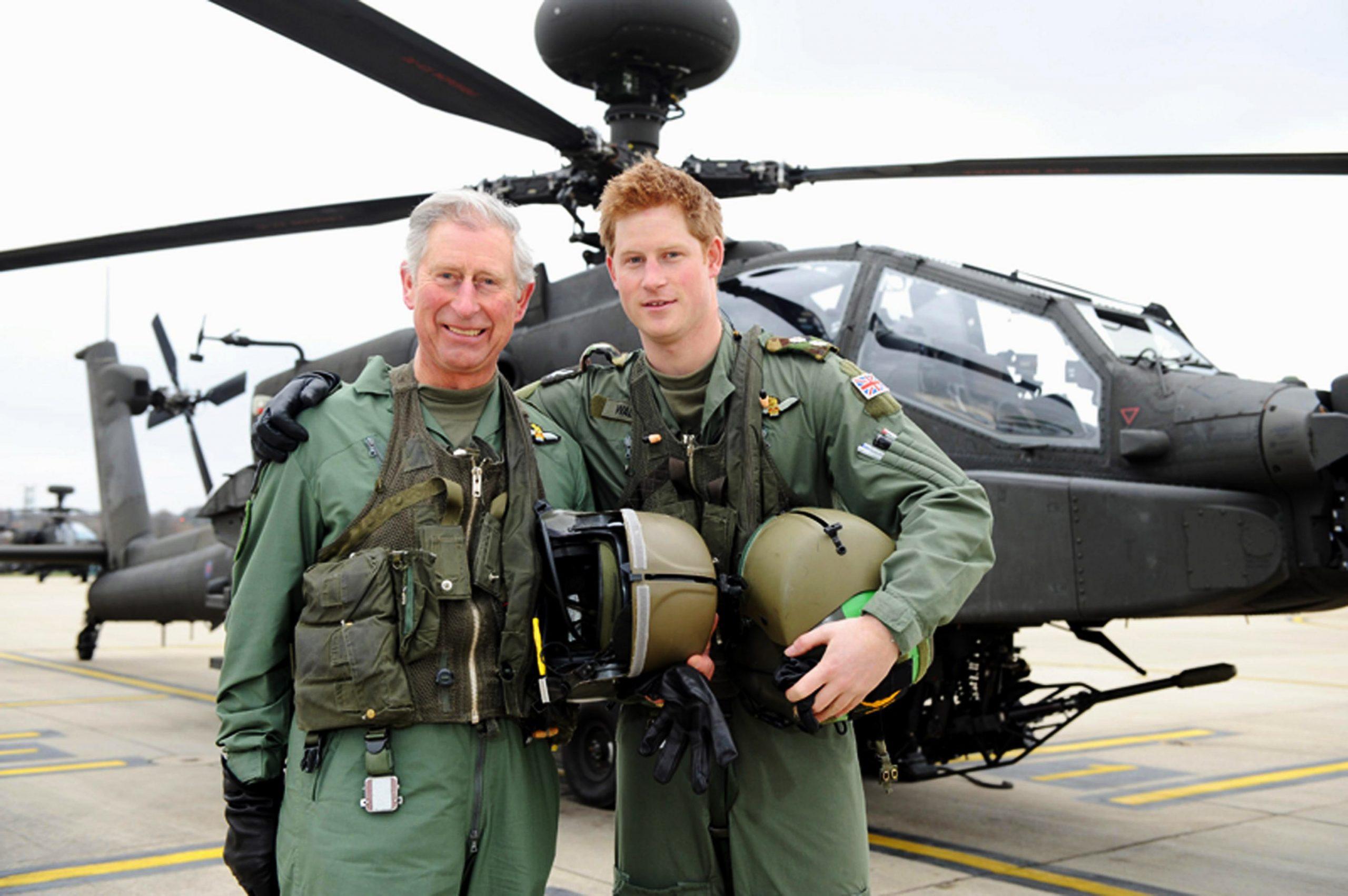 Le prince Charles et le prince Harry