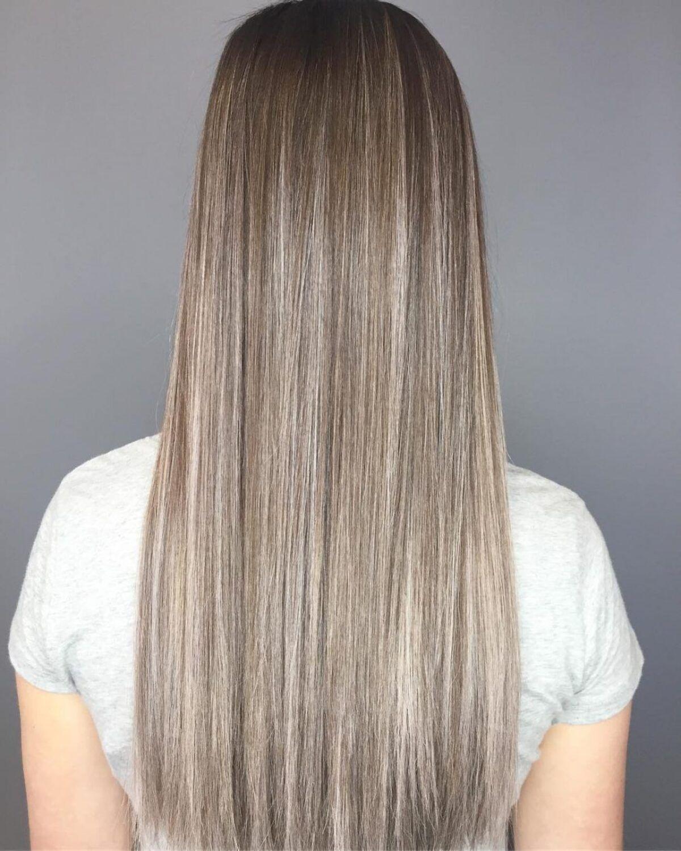 Style ombre blond brun à blanc