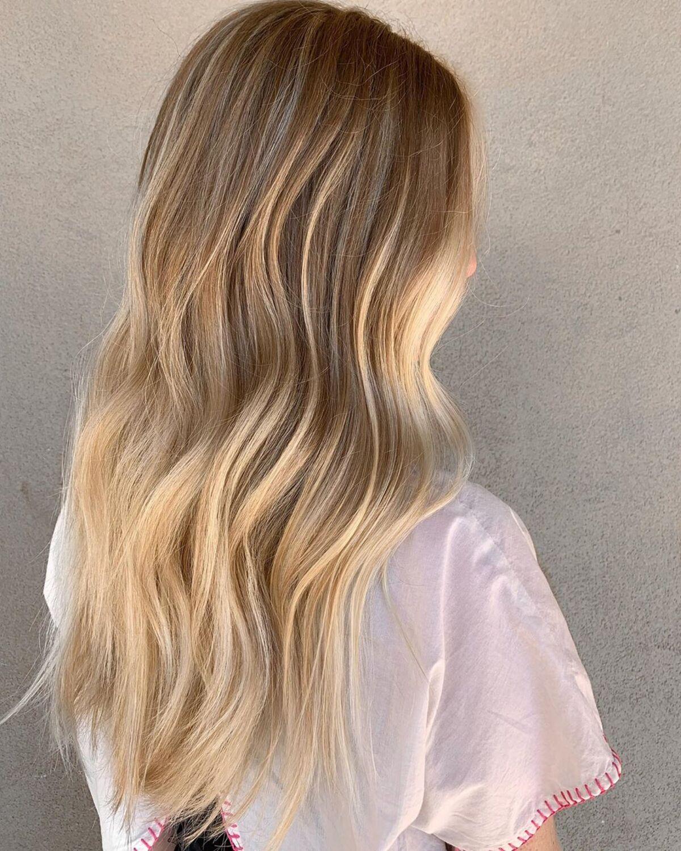 Ombre brun châtain moyen à blond foncé