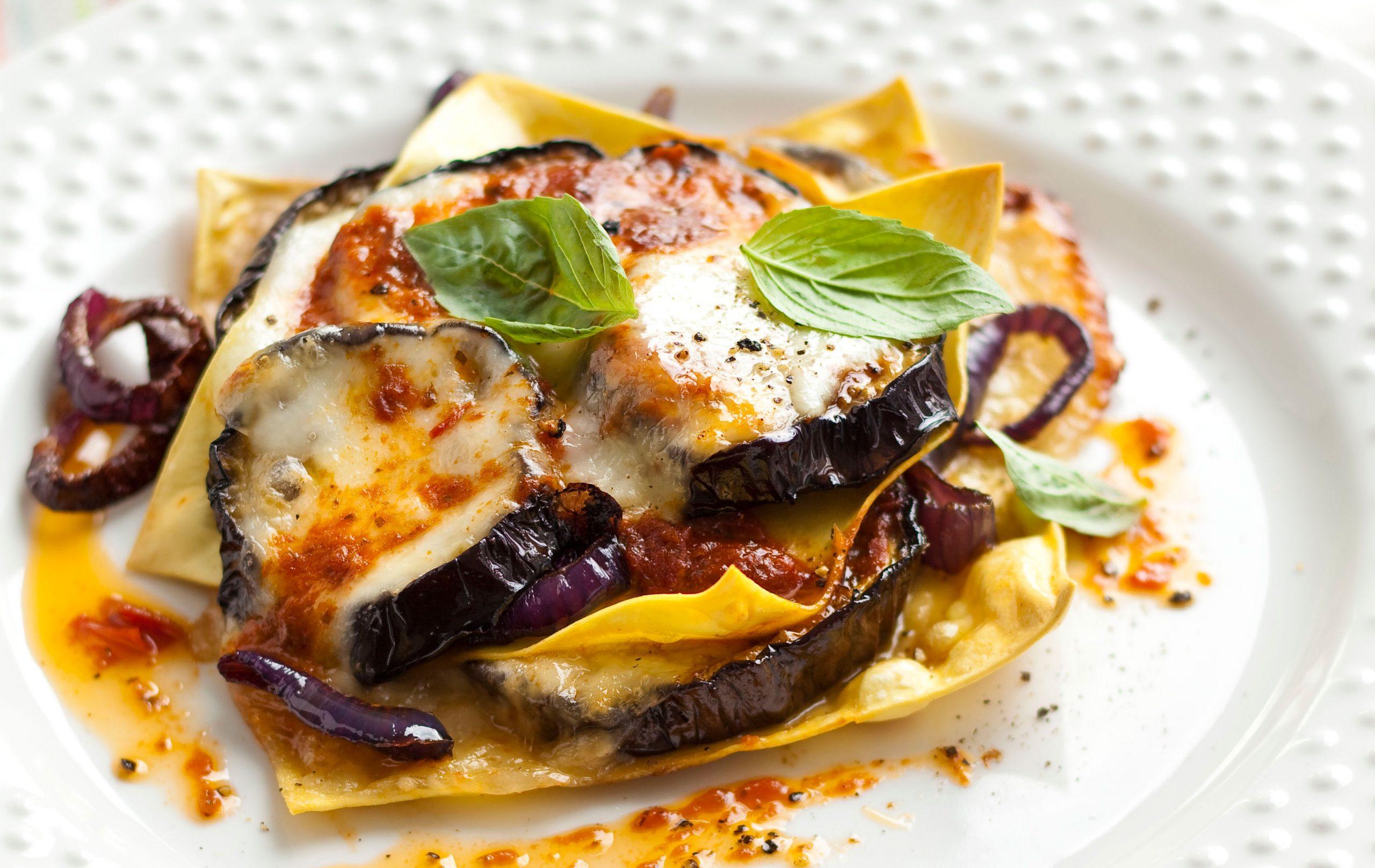 Lasagnes méditerranéennes ouvertes