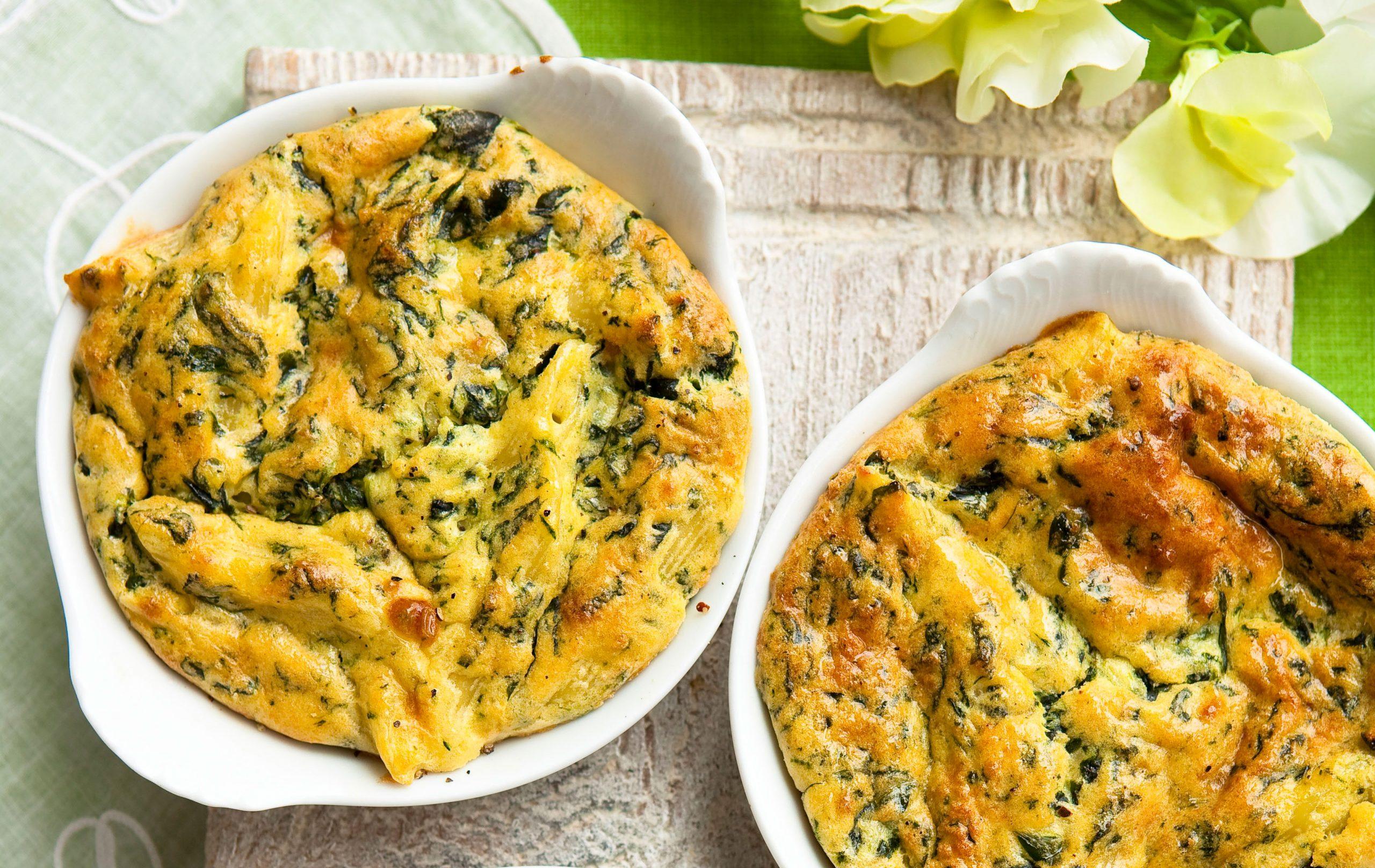 Pâtes au fromage et aux épinards