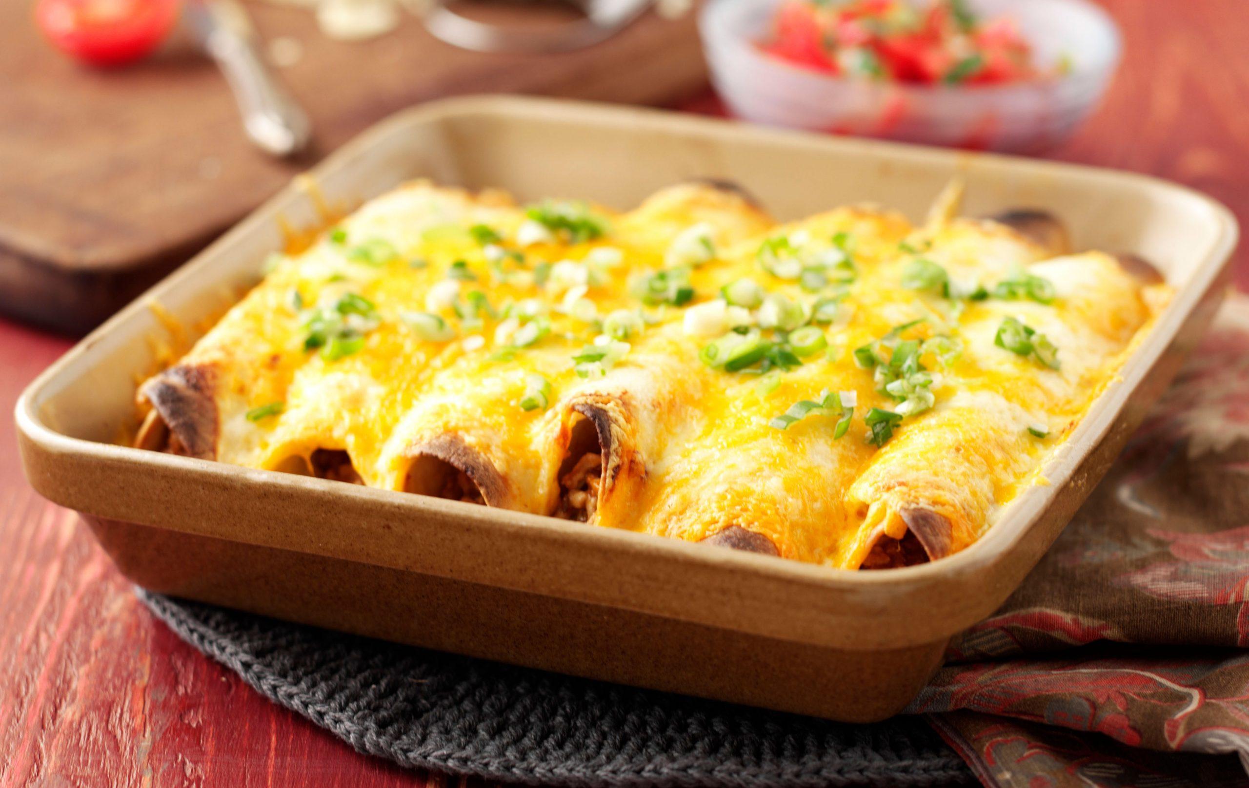 Enchiladas au ragoût de porc, Repas hypocaloriques