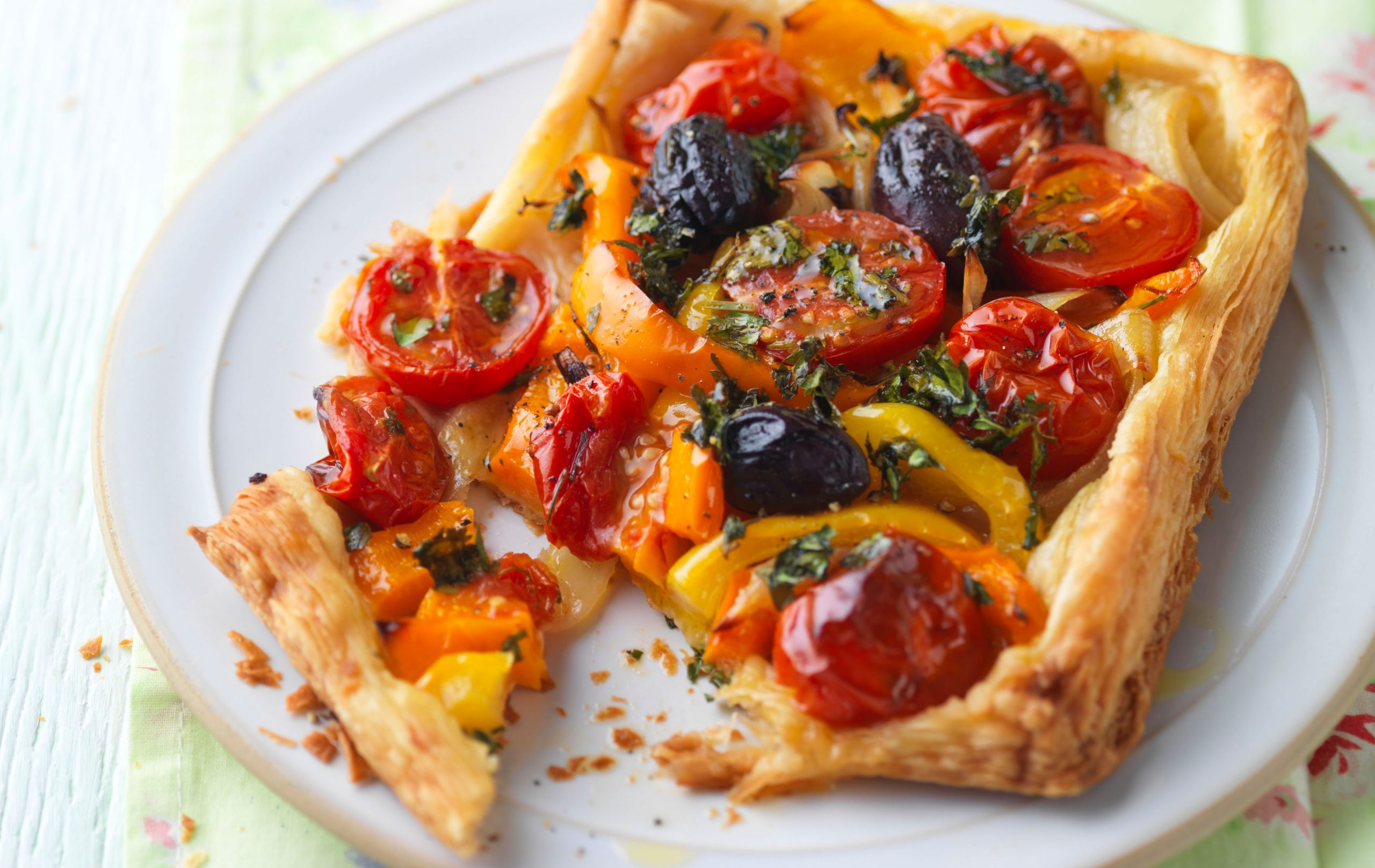 Galettes de tomates et de poivrons