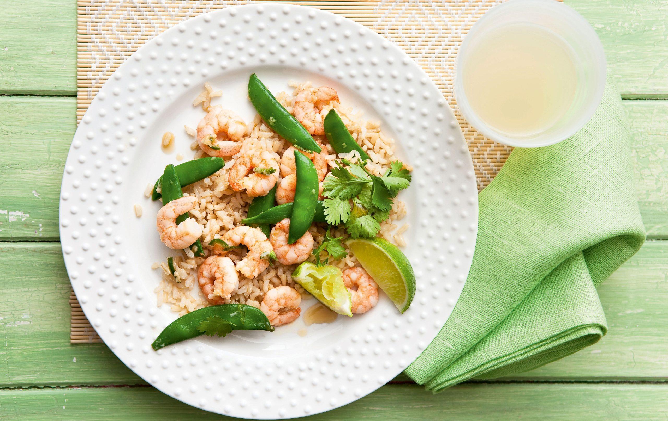 Crevettes à l'ail, au gingembre et au piment, Repas hypocaloriques
