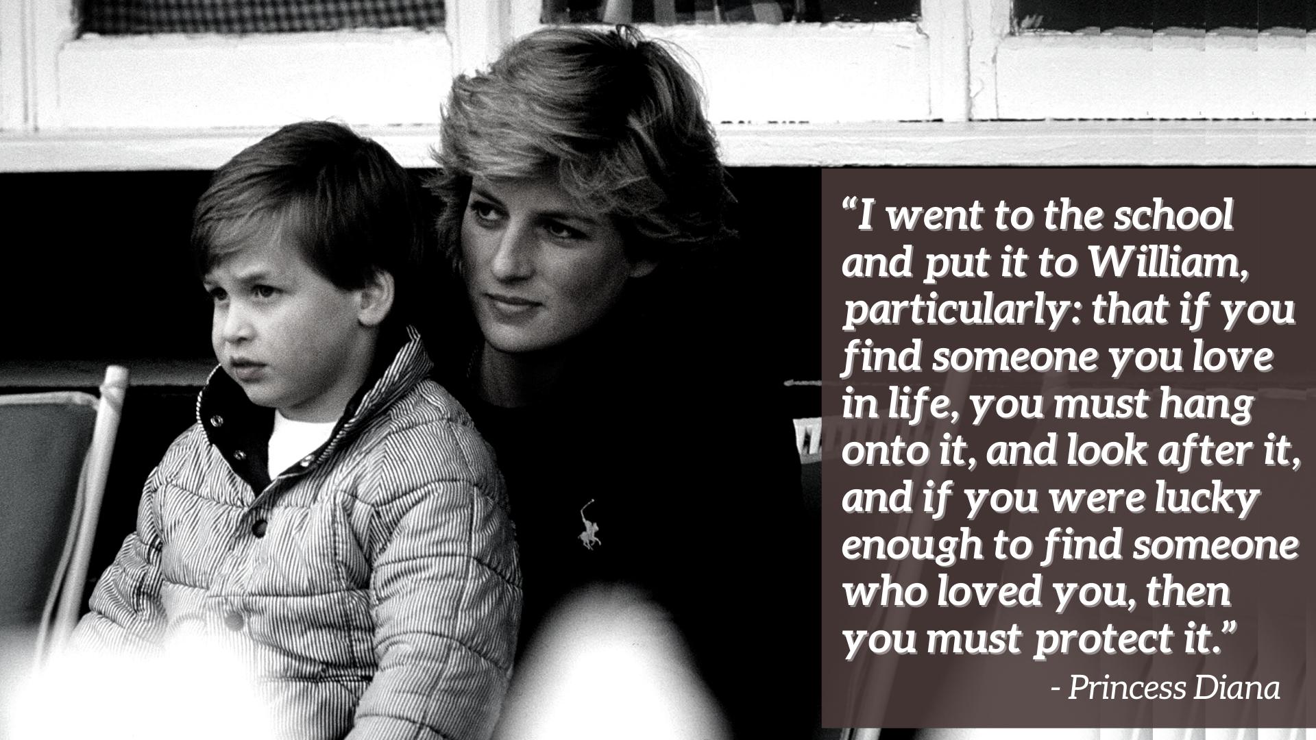 La princesse Diana et William - citation