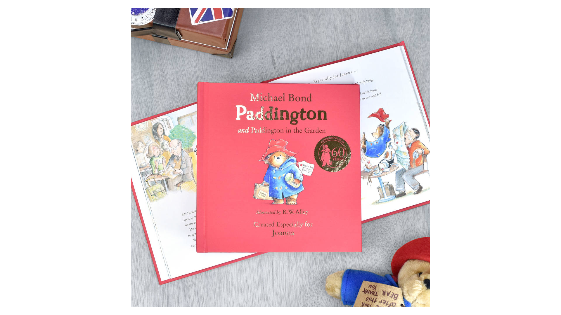 un livre personnalisé pour enfants avec l'ours paddington