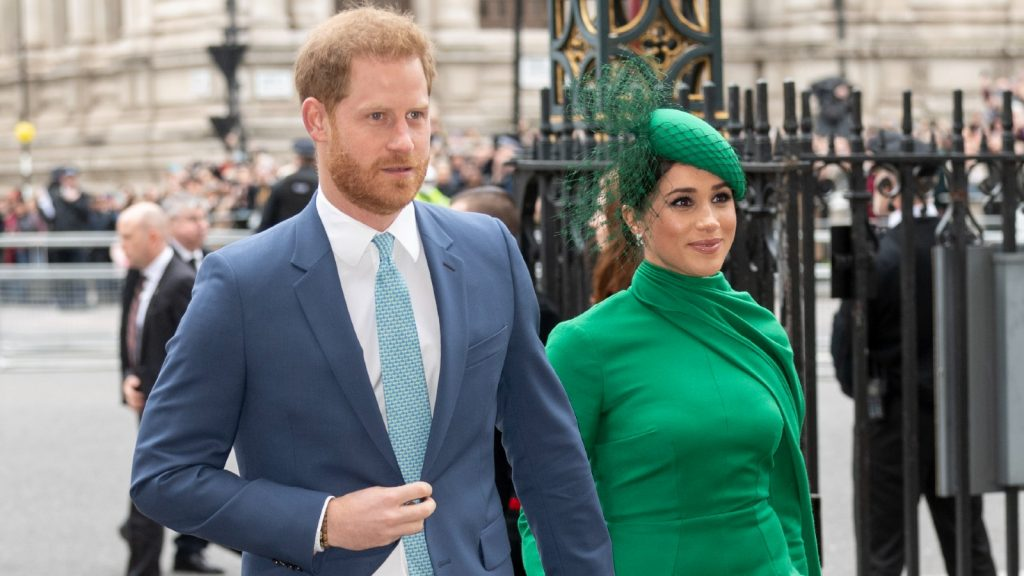 Le Prince Harry, Duc de Sussex, et Meghan, Duchesse de Sussex, assistent au Commonwealth Day Service 2020 à l'Abbaye de Westminster le 9 mars 2020 à Londres, Angleterre.