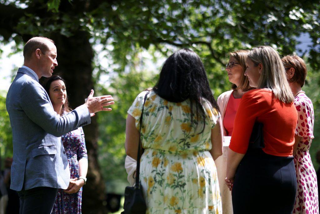 Le Prince William, Duc de Cambridge, organise une garden party pour commémorer le 73ème anniversaire du NHS au Palais de Buckingham le 5 juillet 2021 à Londres, Angleterre.
