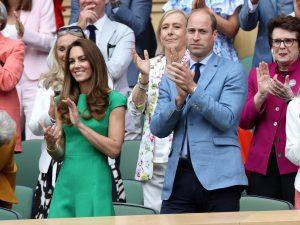 Kate Middleton et le Prince William lors de la finale féminine de Wimbledon.