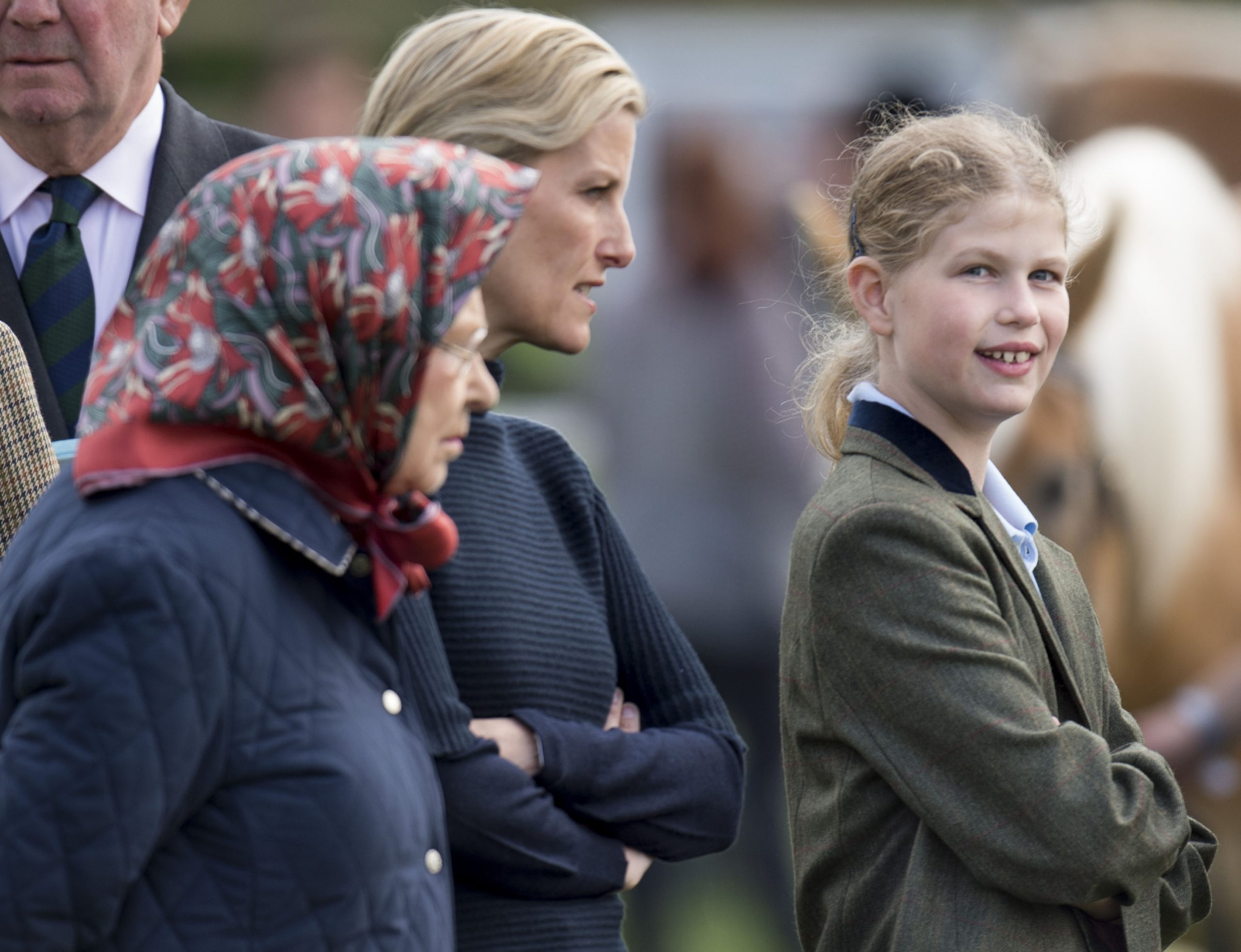 La Reine, Sophie Wessex et Lady Louise Windsor