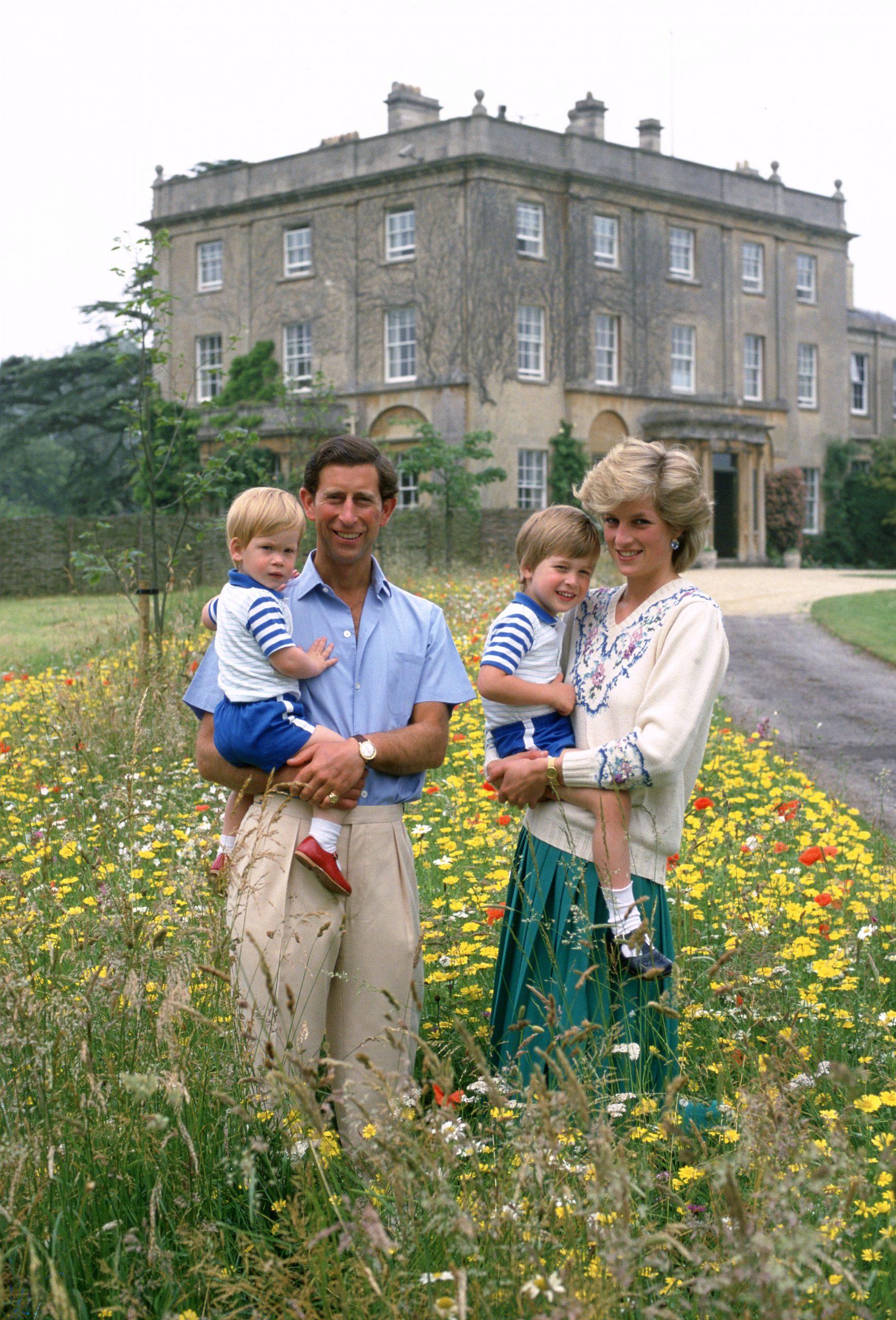 Prince Charles, Princesse Diana, Prince Harry et Prince William