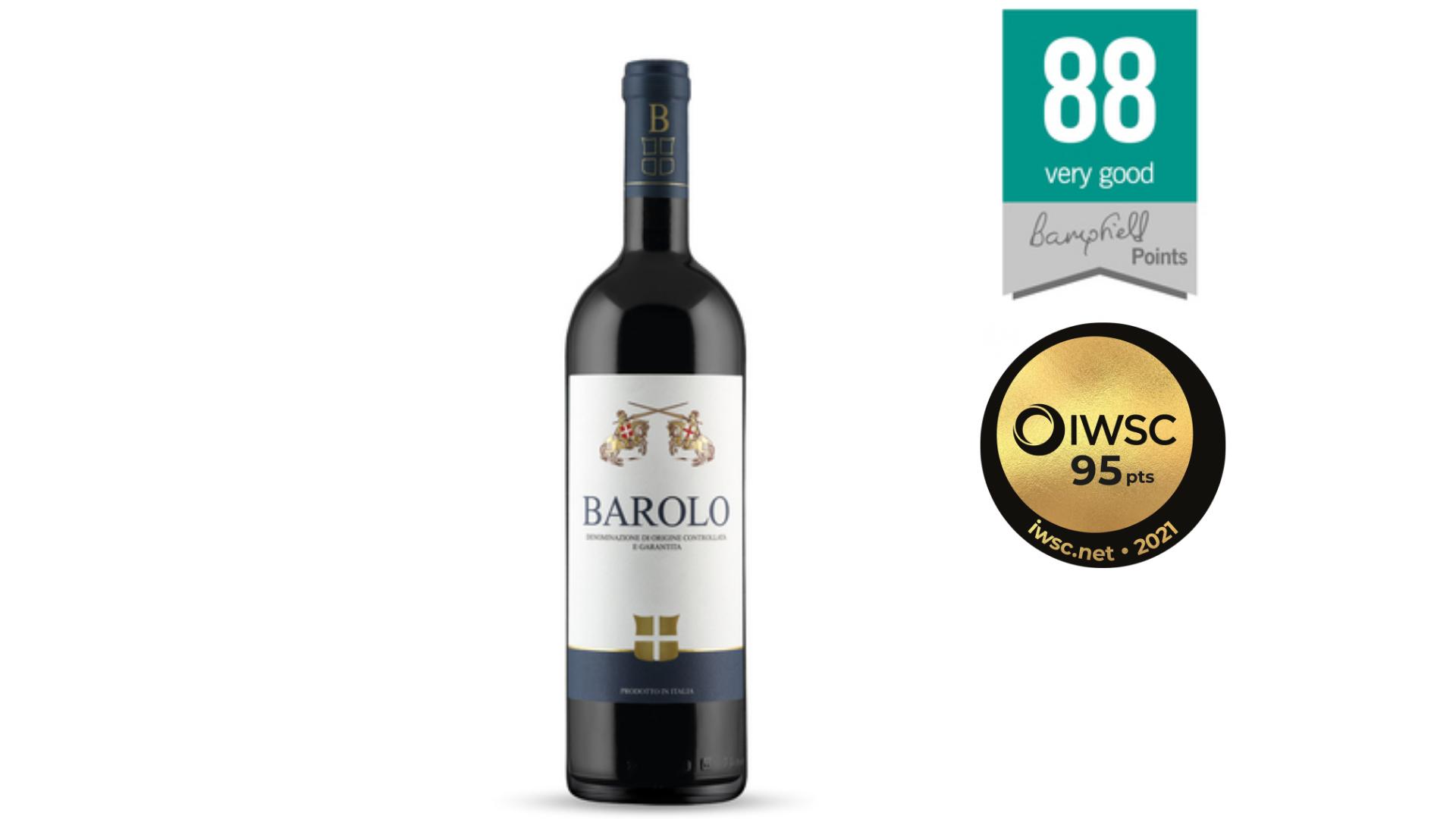 une bouteille de vin Barolo lidl