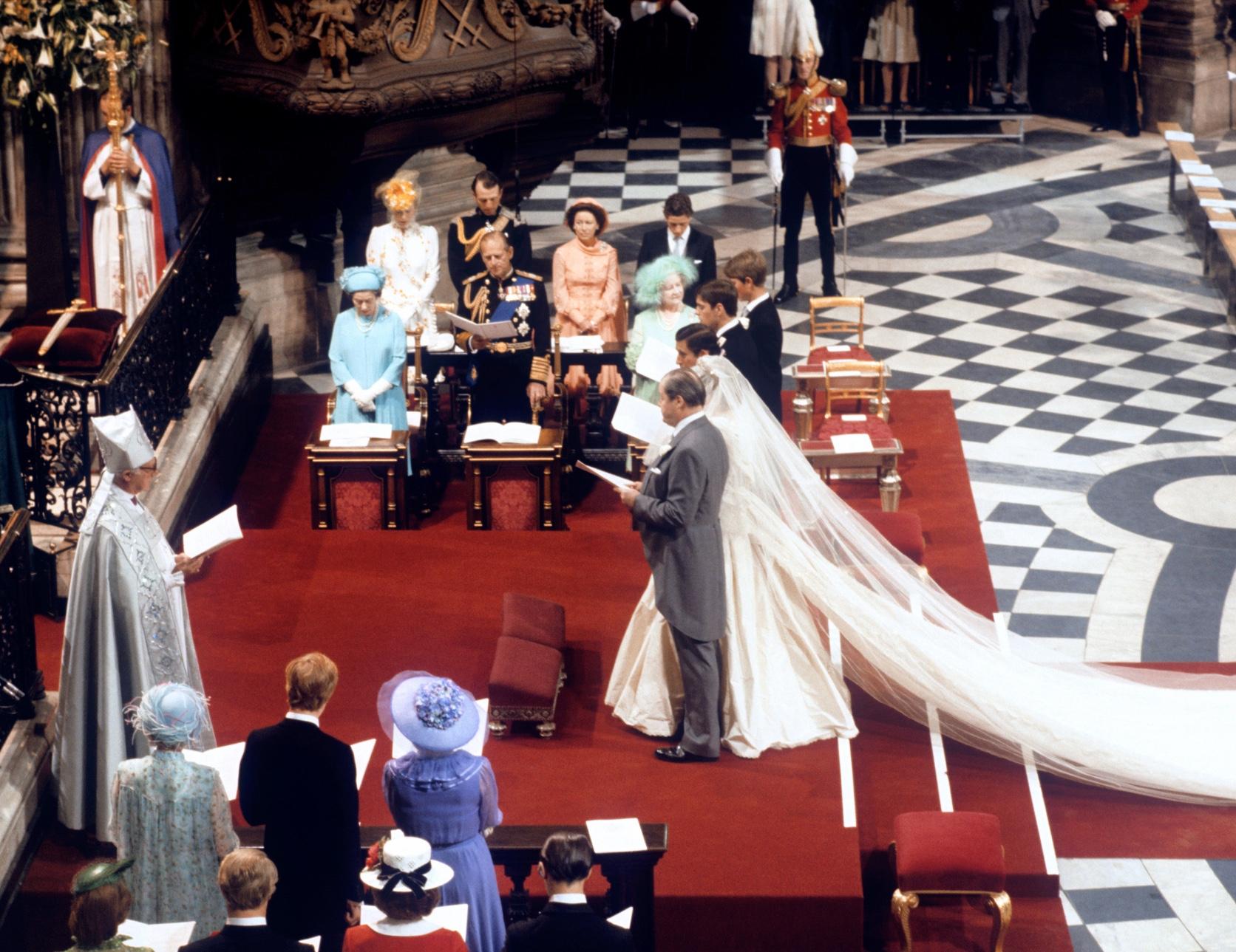 Charles et Diana se sont mariés à l'abbaye de Westminster.