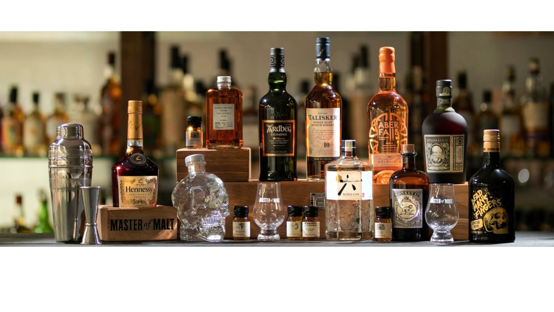 Une sélection de whiskies et autres alcools à acheter en ligne sur Master of Malt