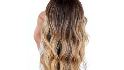 brown to blonde ombre